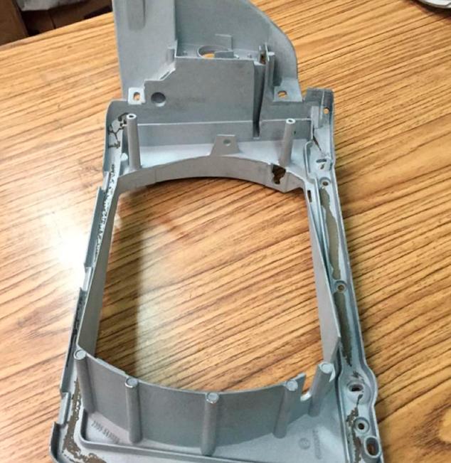 Granallado piezas aluminio moto